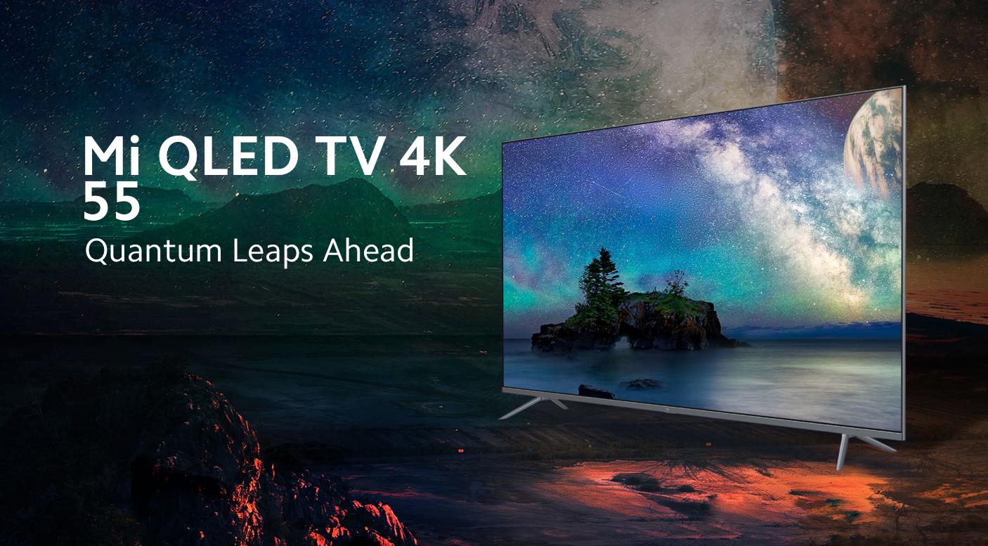 Xiaomi Mi QLED TV 4K: безрамочный 55-дюймовый смарт-телевизор с чипом MediaTek и Android TV 10 на борту за $745