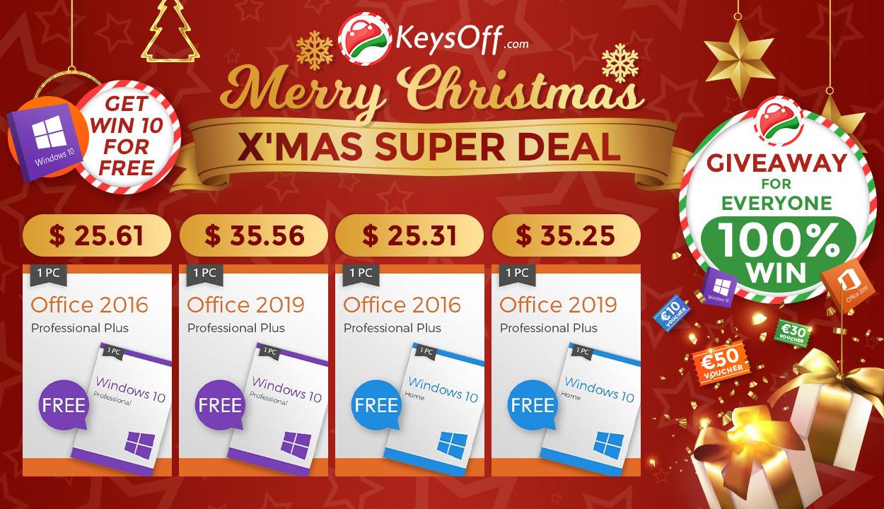 [на правах рекламы] Новогодняя распродажа Keysoff: выгодные скидки, Windows 10 в подарок и розыгрыш призов