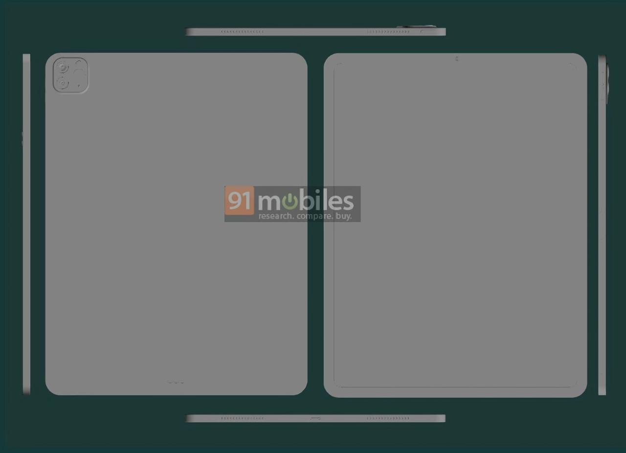 iPad Pro 2021 появился на CAD-рендерах с 12.9-дюймовым дисплеем, тонкими рамками и двойной камерой