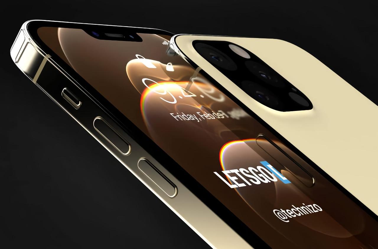 iPhone 13 Pro без порта Lightning, с уменьшенной «чёлкой» и подэкранным сканером на качественных рендерах