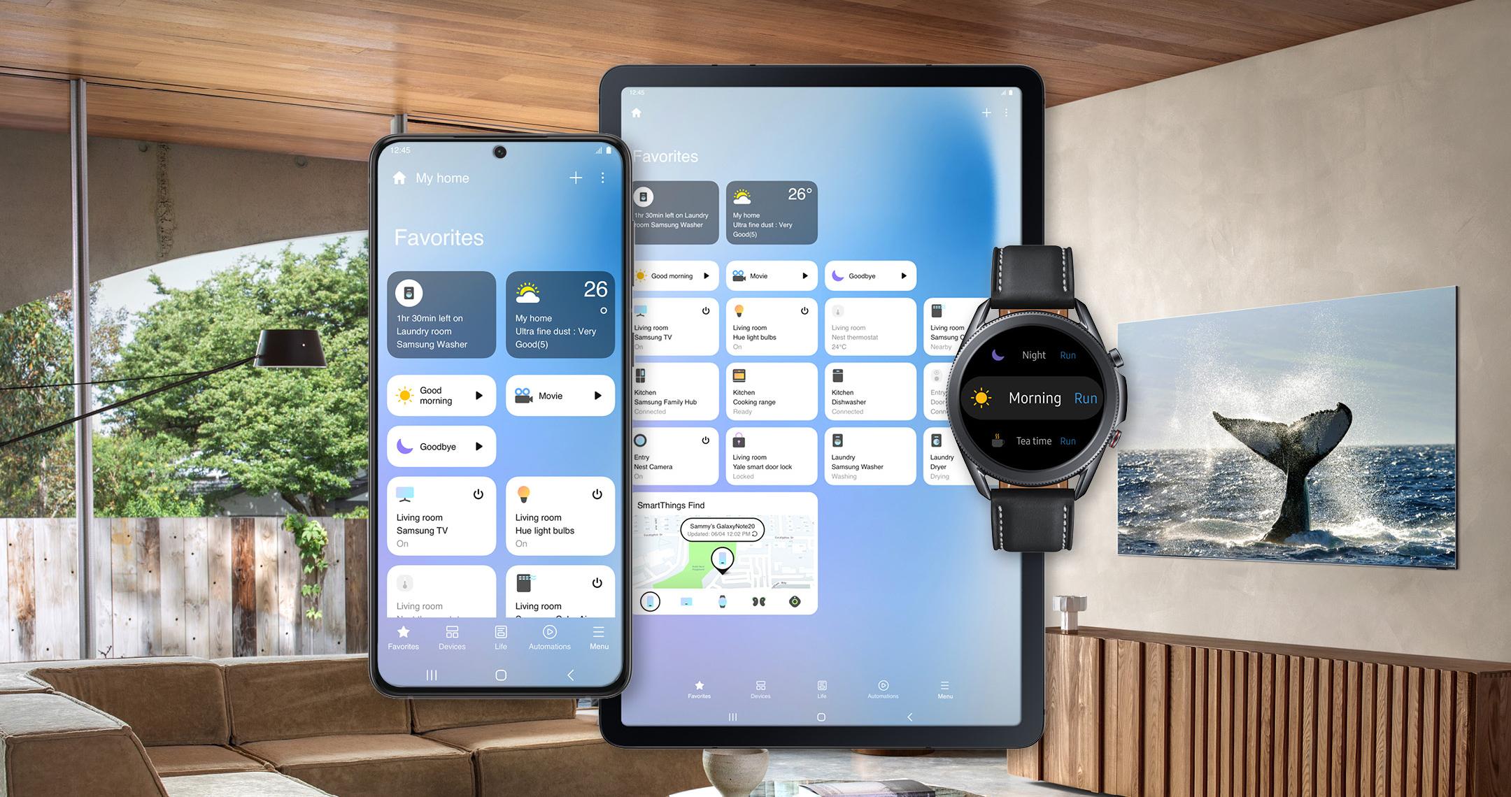Samsung обновила приложение SmartThings, теперь оно больше похоже на Apple HomeKit