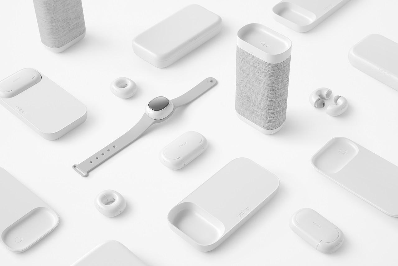 Не только складной смартфон: OPPO также показала странные беспроводные наушники и аксессуары