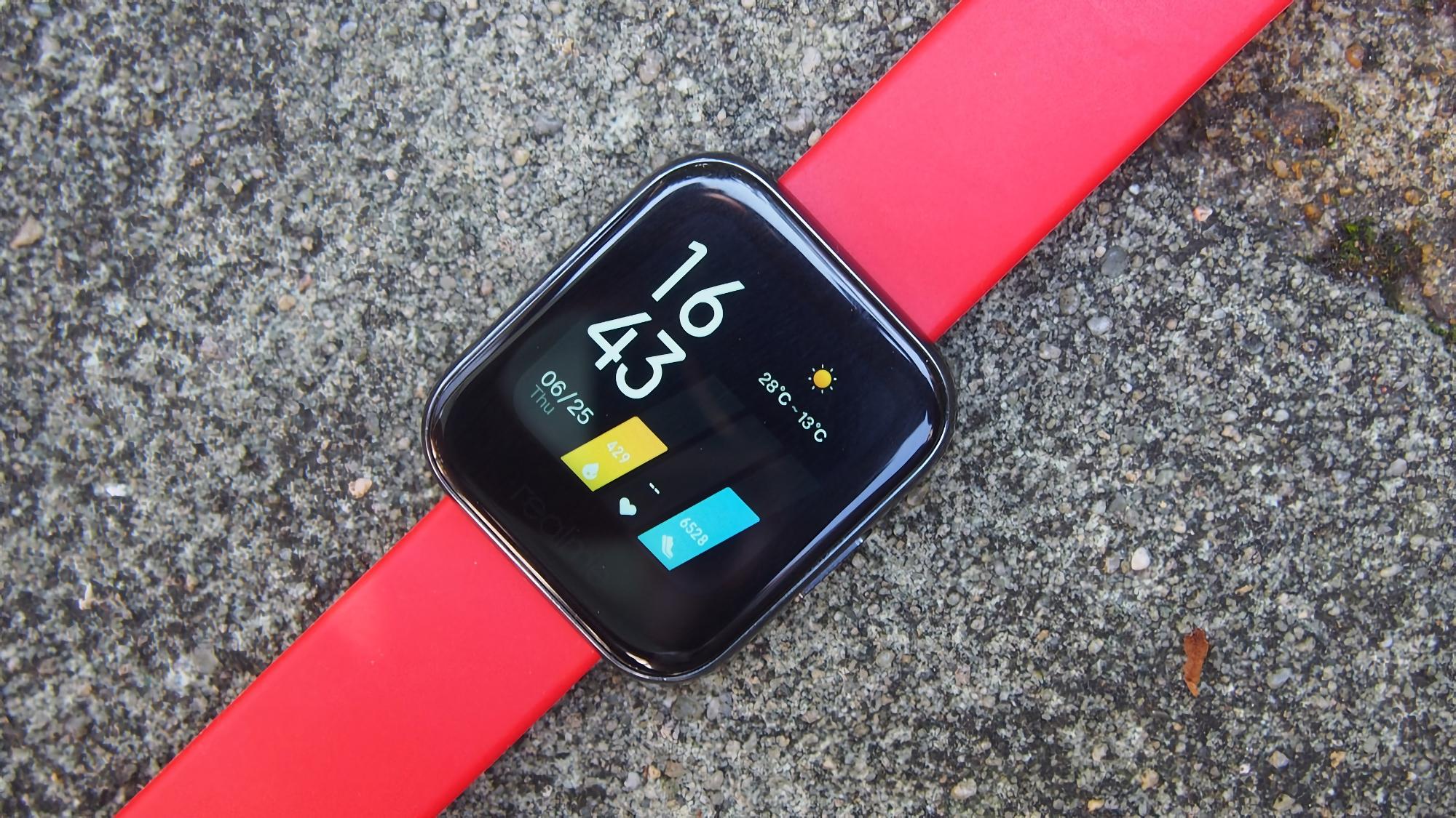В сеть утекли характеристики Realme Watch 2: 1.4-дюймовый дисплей, батарея на 305 мАч, защита IP68 и датчик SpO2