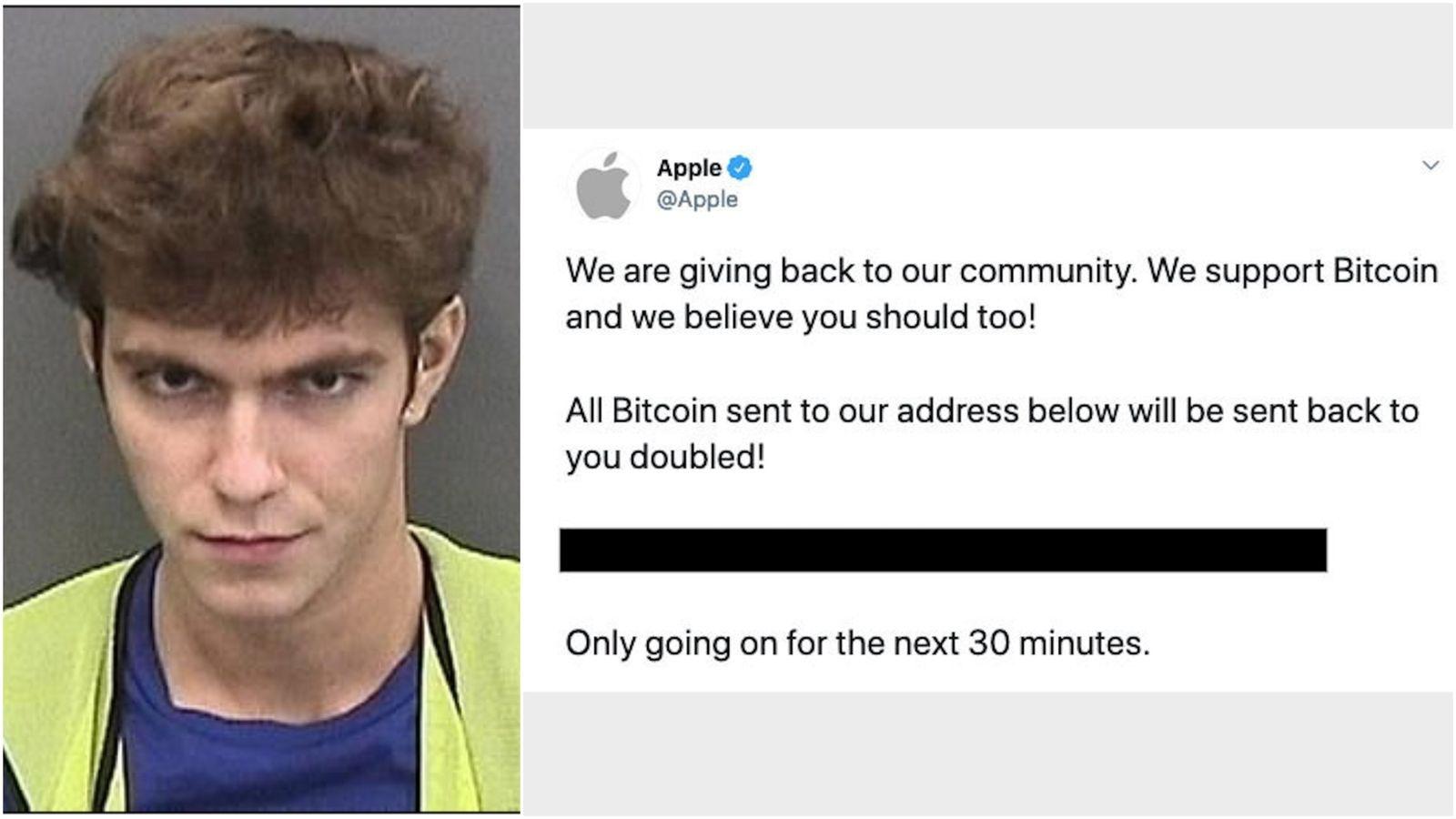18-летнего хакера, который просил Bitcoin от имени Apple, Uber, Илона Маска и Барака Обамы в Twitter посадили в тюрьму на 3 года