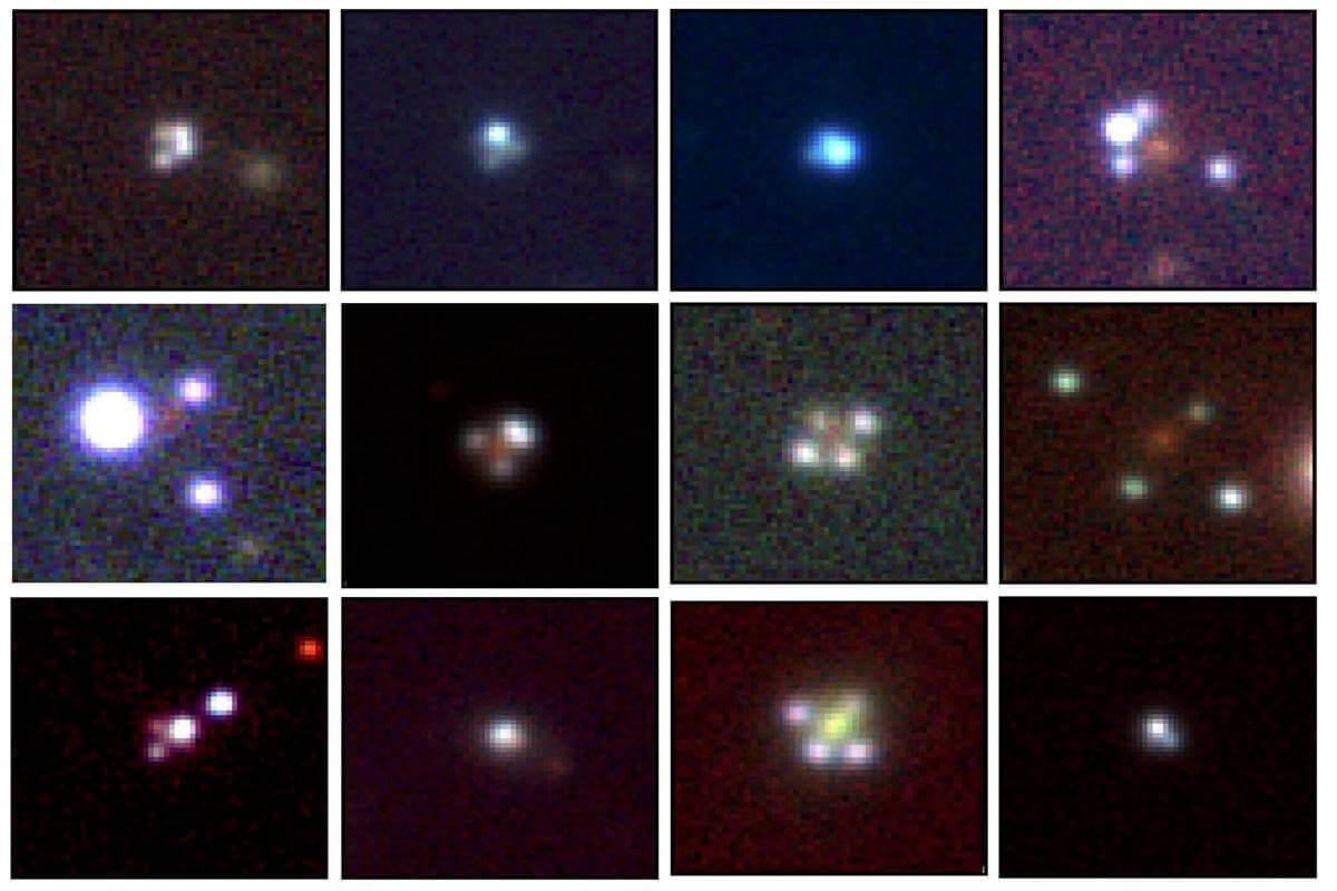 Обнаружены 12 странных квазаров или «крестов Эйнштейна»