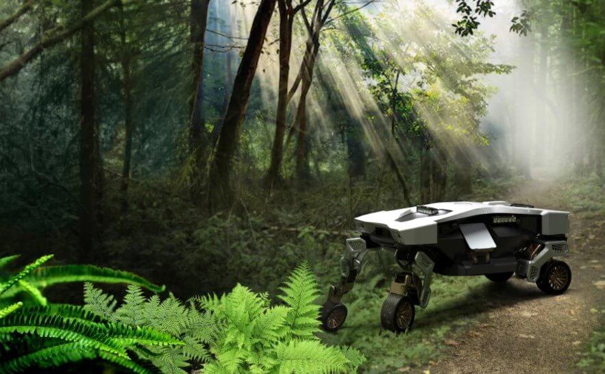 Hyundai создала робота-курьера Tiger X-1. Он умеет и ездить, и ходить