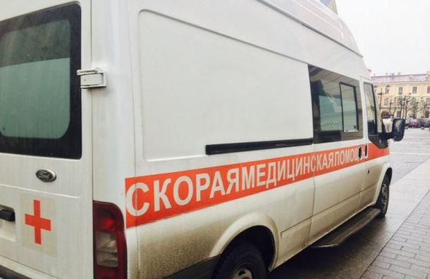 Водитель толкнул оппонента под колеса машины на Краснопутиловской