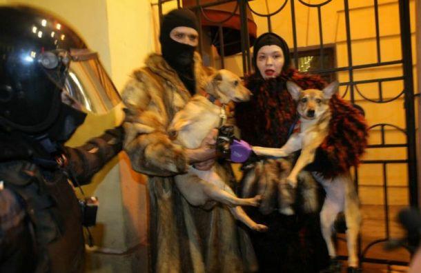 Без разбору: на протестной акции в Петербурге задерживают и людей, и собак