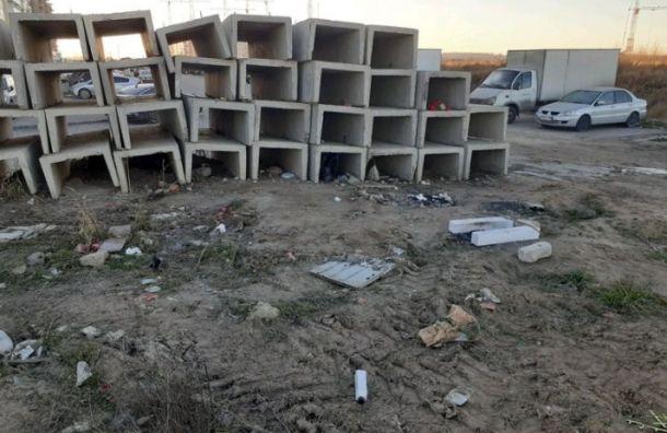 ГАТИ оштрафовала компанию 'Строй-Комплекс' за мусор в Шушарах