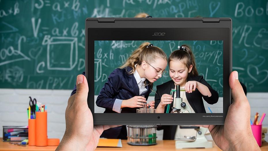 Acer представил ноутбук TravelMate Spin B3 - специально для учащихся