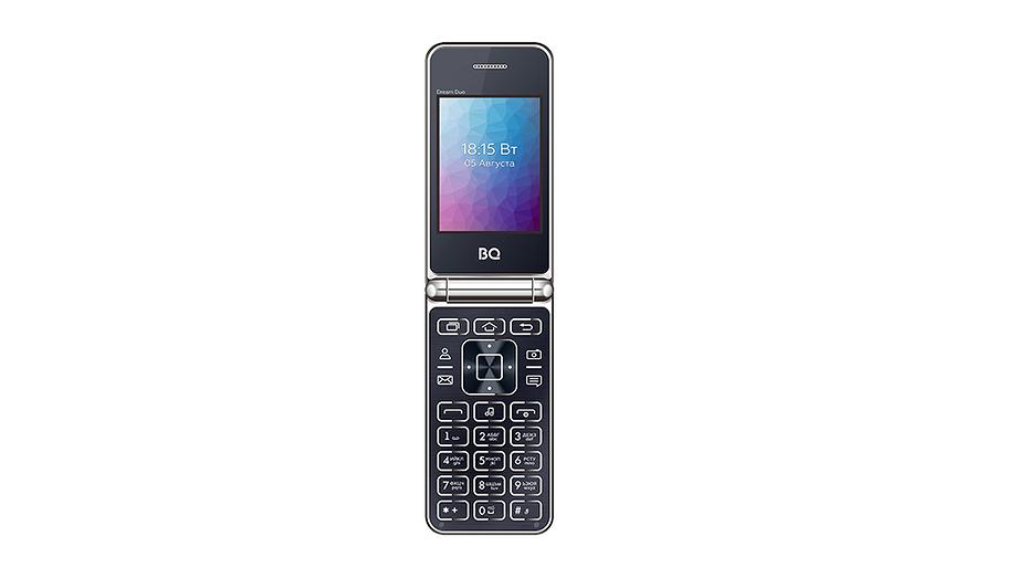 Металлический телефон-раскладушка дешевле 2500 рублей: BQ представила новую модель 2446 DREAM DUO