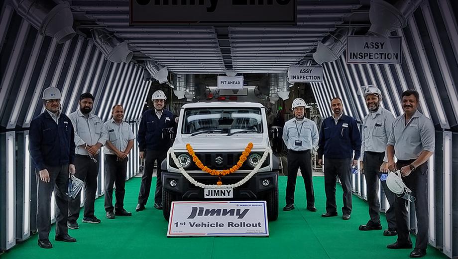 Внедорожник Suzuki Jimny встал на конвейер в Индии