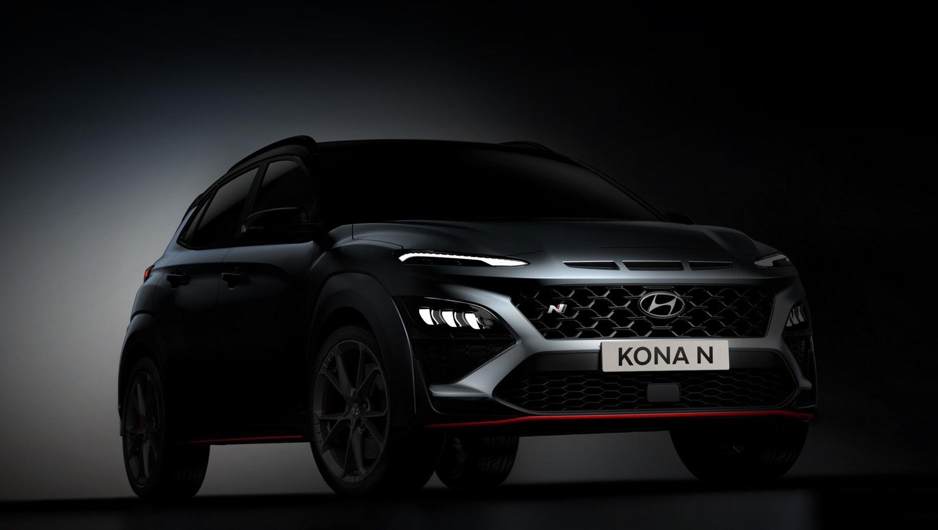 Дополнено: Кроссовер Hyundai Kona N показался без камуфляжа