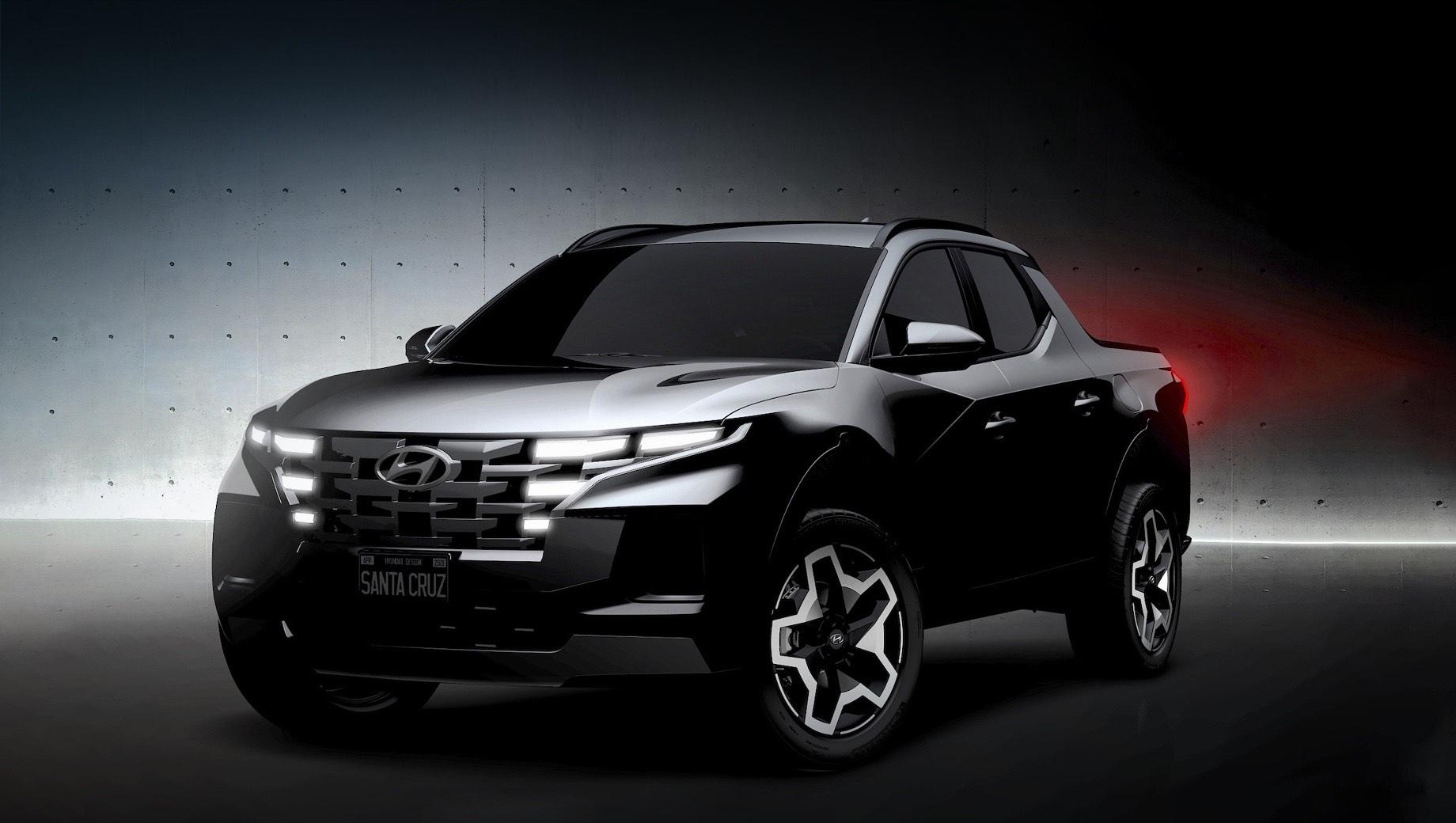 Пикап Hyundai Santa Cruz не стал скрывать родство с Тусаном