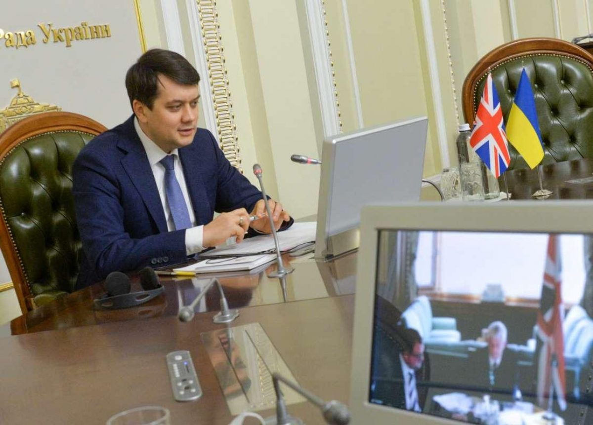 Разумков пригласил своего британского коллегу в Украину