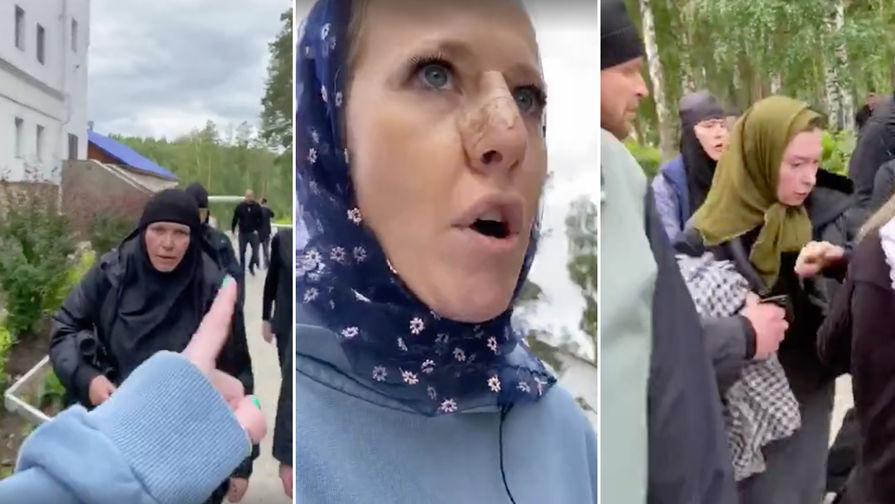 СК не стал возбуждать дело после нападения на Собчак и ее коллег в храме на Урале