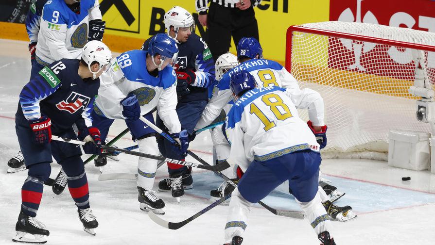США обыграли Казахстан в матче чемпионата мира по хоккею
