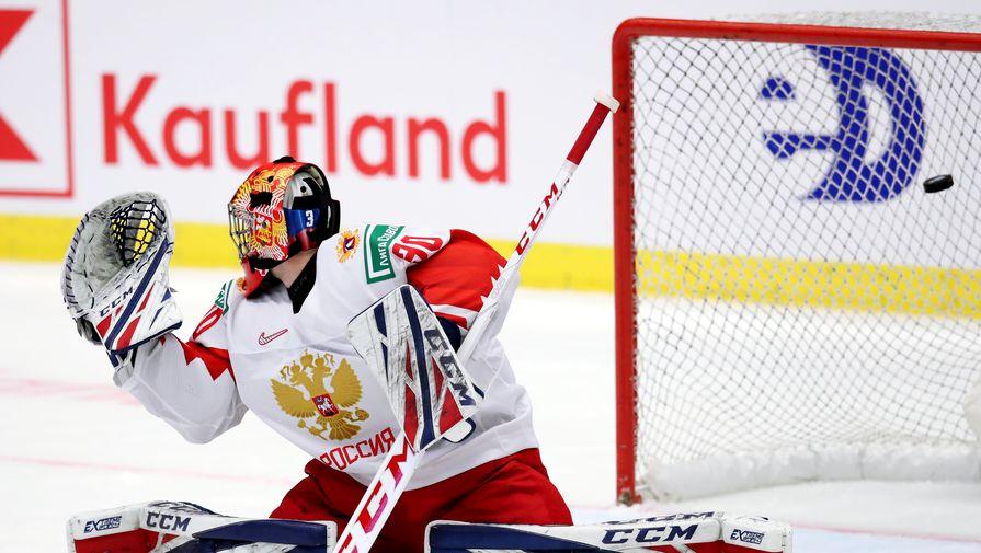 Аскаров отразил буллит во втором периоде полуфинала МЧМ-2021 против Канады