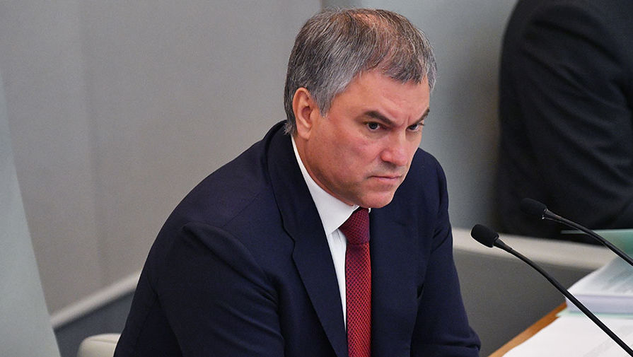 Володин счел оскорбительными заявления о 'клоунах' в Госдуме