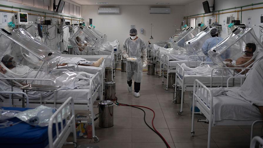 Число случаев коронавируса в Бразилии превысило 8 млн