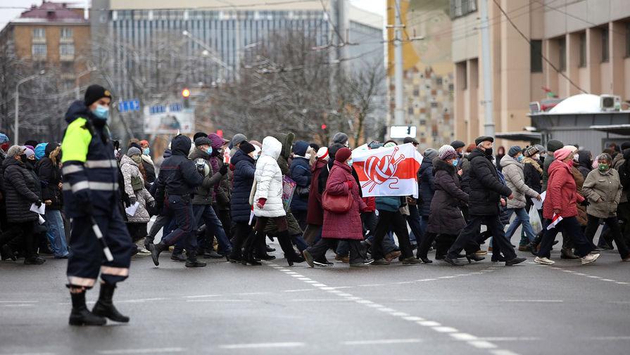 Силовики провели задержания на 'марше пенсионеров' в Минске