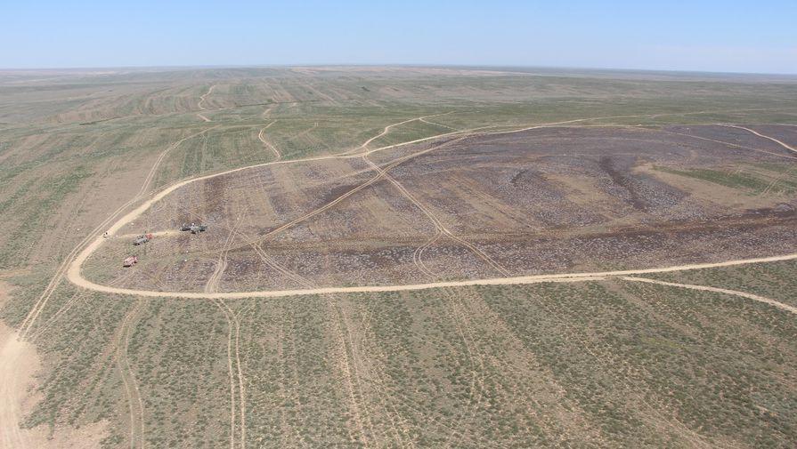 Географы научились по спутнику определять, где казахскую степь подожгли ступени ракет