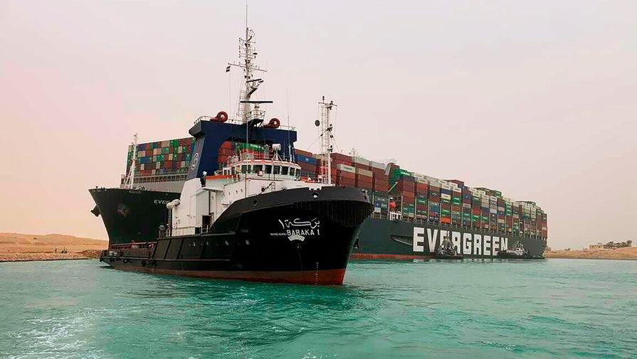Сумма ущерба от блокировки Суэцкого канала может составить около $1 млрд