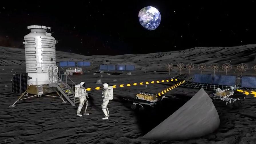 Роскосмос показал видеоконцепцию Международной лунной станции