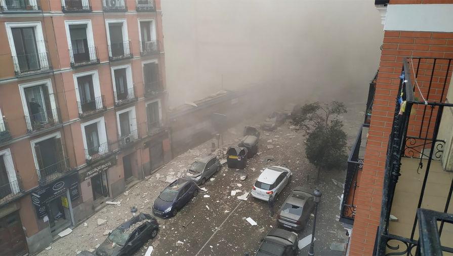 Люди пострадали при взрыве в центре Мадрида