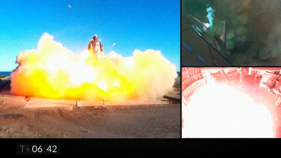 Корабль Илона Маска опять взорвался при посадке