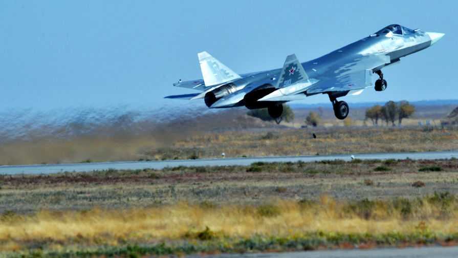 Первый серийный истребитель Су-57 разместили на юге России