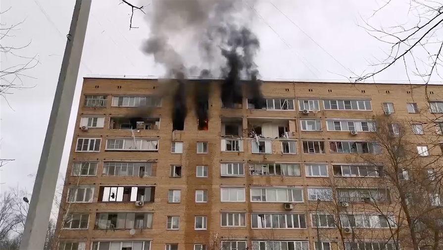 Пожар после взрыва в Химках удалось локализовать
