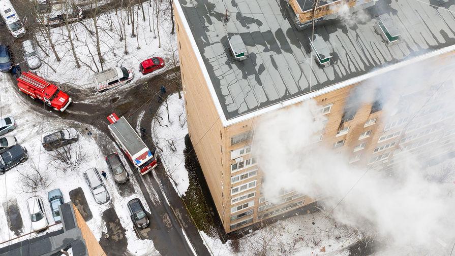 Названа предварительная причина взрыва в доме в Химках