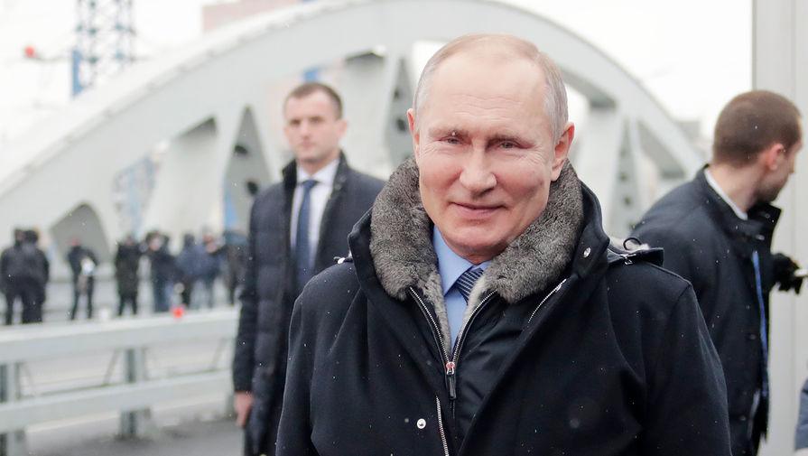 Путин посетил открытие транспортной развязки в Химках