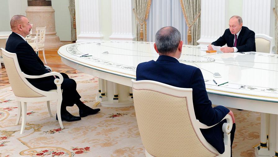 Путин, Алиев и Пашинян договорились о развитии Нагорного Карабаха