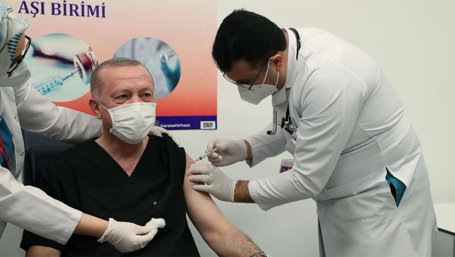 Эрдоган сделал прививку от коронавируса