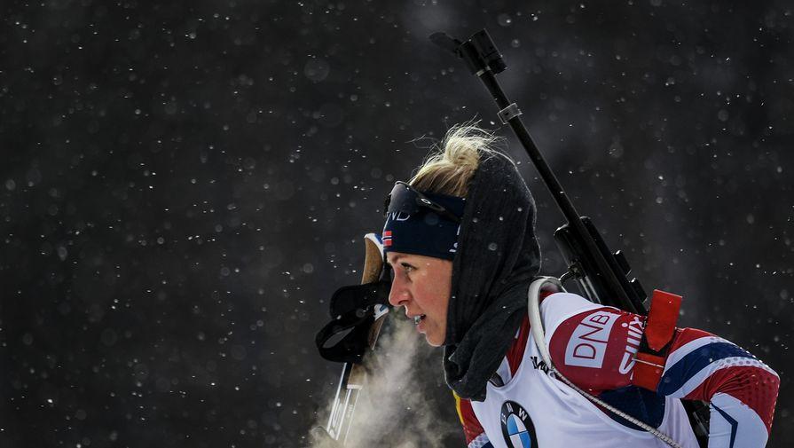 Норвежка Экхофф выиграла гонку преследования на этапе КМ в Нове-Место