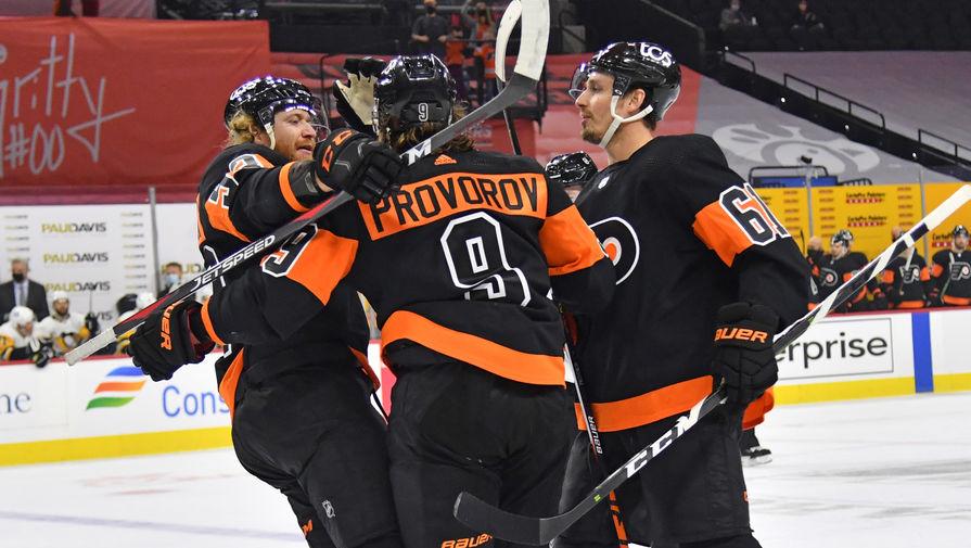 'Филадельфия' Проворова проиграла 'Бостону' в матче НХЛ