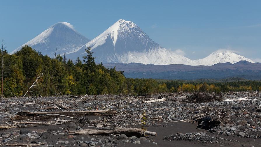 Поселок на Камчатке присыпало вулканическим пеплом
