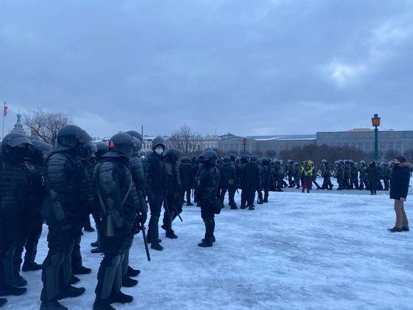 В Петербурге протестующий ударил инспектора ДПС