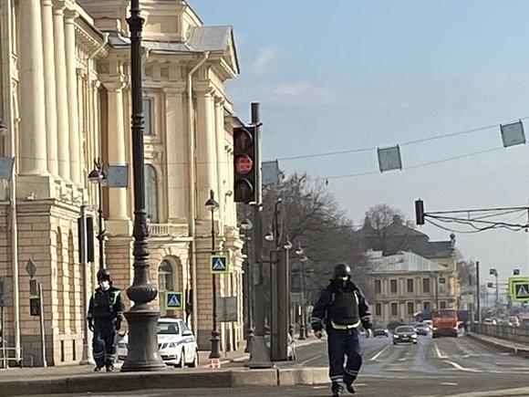 В центр Петербурга по неизвестной причине стягивали силовиков (фото)