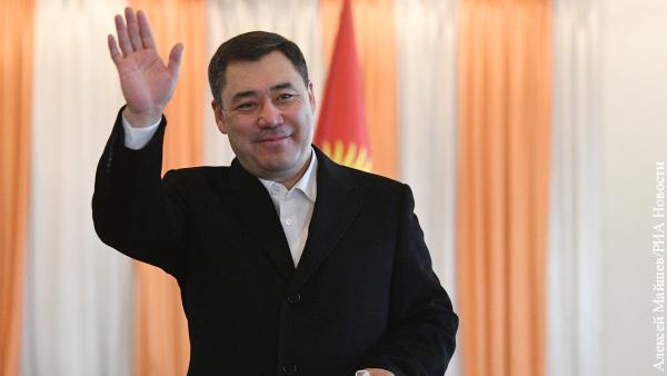 Жапаров вышел в лидеры на выборах президента Киргизии