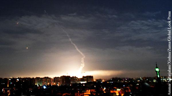 Израильские ВВС нанесли удар по Сирии