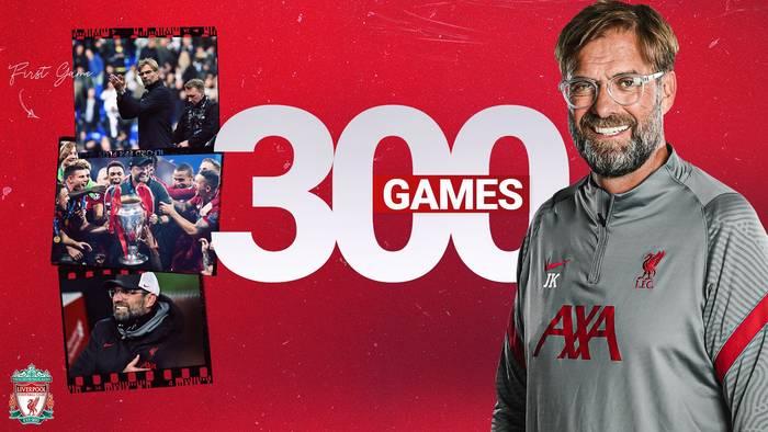 Клопп провел 300-й матч во главе Ливерпуля