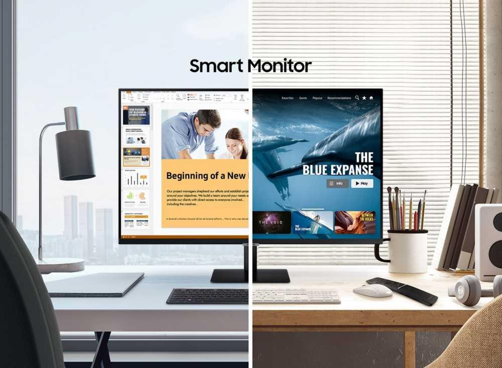 Samsung запускает новые мониторы-телевизоры на базе ОС Tizen