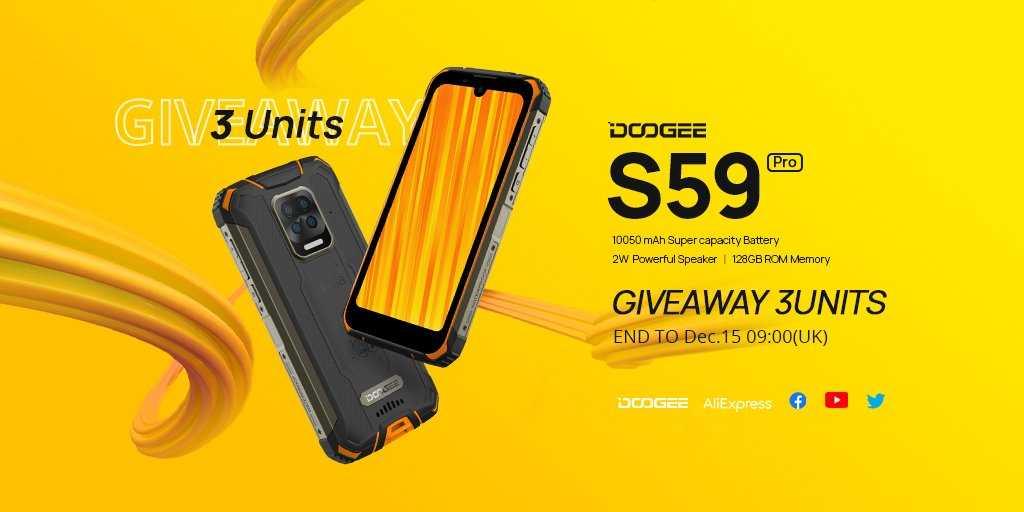 Китайская компания Doogee представила смартфон с батареей на 10050 мАч
