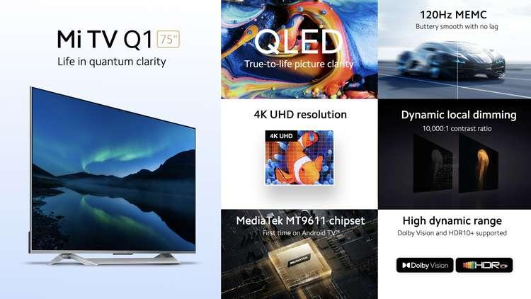 Xiaomi представила 75-дюймовый QLED-телевизор Mi TV Q1