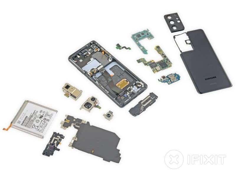 Samsung Galaxy S21 Ultra провалил тест на ремонтопригодность