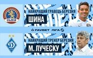 Луческу назван лучшим тренером УПЛ в марте, лучшим игроком стал форвард ФК Львов