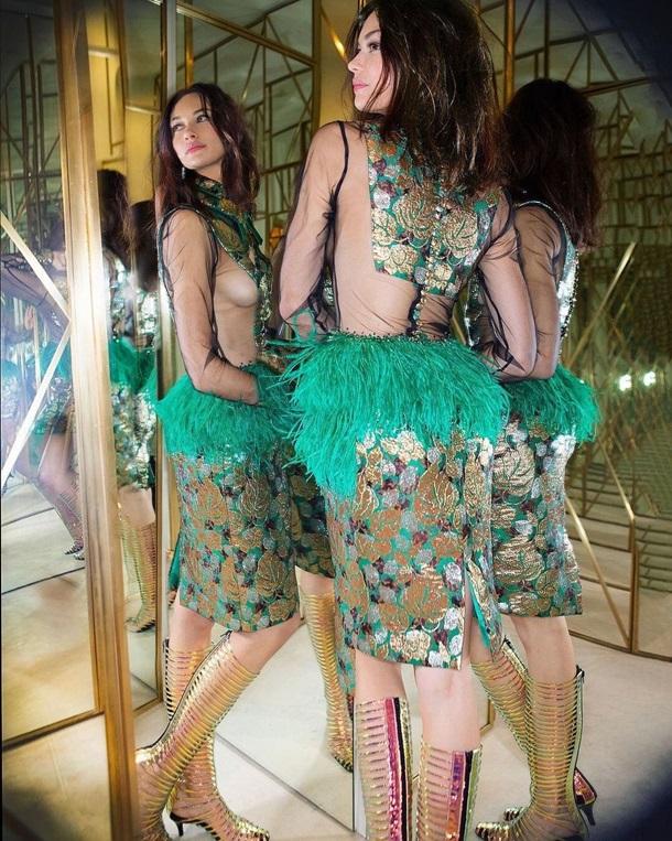 Ольга Куриленко изумила откровенным платьем